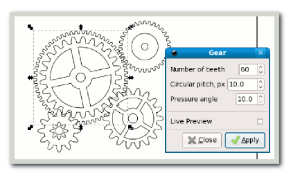 Inkscape Tutorials from Beginner to Advanced Gears