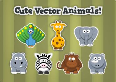 Free Cute Cartoon Animals Vector Clipart Inkscape Tutorials Blog