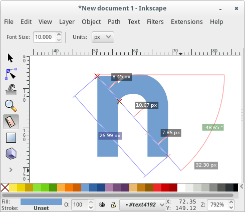 Inkscape 0 91 Feature — Measurement tool – inkscape