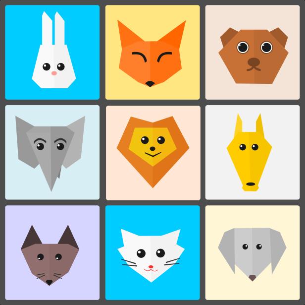 222-1014-hewan-dan-binatang-lucu-origami-style